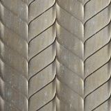 10' Wide x 4' Long Ariel Pattern Vintage Metal Finish Thermoplastic Flexlam Wall Panel