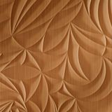 10' Wide x 4' Long Sculpted Petals Pattern Brushed Copper Finish Thermoplastic Flexlam Wall Panel