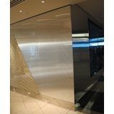 10' Wide x 4' Long Rib1 Pattern Brushed Stainless Finish Thermoplastic Flexlam Wall Panel