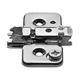 0mm CAM Adjustable Wing Plate for Frameless Cabinet Screw On Hinge