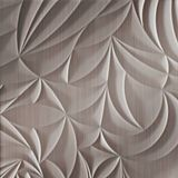 10' Wide x 4' Long Sculpted Petals Pattern Brushed Nickel Finish Thermoplastic Flexlam Wall Panel