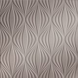 FlexLam 3D Wall Panel | 4ft W x 10ft H | Shallot Pattern | Brushed Nickel Finish