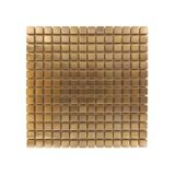 "12"" x 12"" Brushed Copper Small Square Pattern Metal Tile"