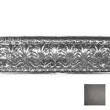 Tin Plated Stamped Steel Cornice | 10-1/2in H x 10-1/2in Proj | Antique Onyx Finish | 4ft Long