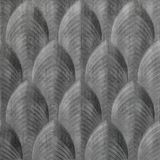FlexLam 3D Wall Panel | 4ft W x 10ft H | South Beach Pattern | Crosshatch Silver Finish