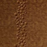 10' Wide x 4' Long Cascade Pattern Antique Bronze Finish Thermoplastic Flexlam Wall Panel