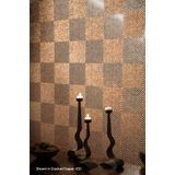 10' Wide x 4' Long Quadro Pattern Bronze Strata Finish Thermoplastic Flexlam Wall Panel