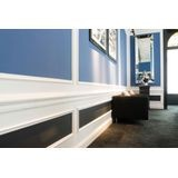 Orac Decor | High Impact Polystyrene Baseboard Moulding | Primed White | 36in Sample Piece