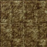 10' Wide x 4' Long Boston Pattern Bermuda Bronze Finish Thermoplastic Flexlam Wall Panel