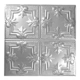 Tin Plated Stamped Steel Ceiling Tile | Nail Up/Glue Up Ceiling Tile | 2ft Sq | Lacquer Finish