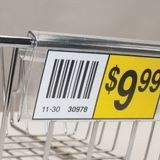 1-1/2in x 4ft Long | Clear Butyrate | Wire Shelf Label Holder | for Cardbord or Wire