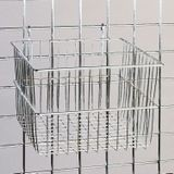 "12""D X12""W X 8""H Bright Chrome Deep Basket For Gridwall"