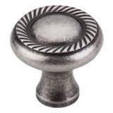 "Swirl Cut Knob 1 1/4"" Dia. Antique Pewter"