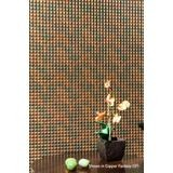 10' Wide x 4' Long Chocolate Square Pattern Steel Strata Finish Thermoplastic Flexlam Wall Panel