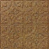 10' Wide x 4' Long Boston Pattern Cracked Copper Finish Thermoplastic Flexlam Wall Panel