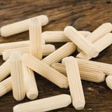"1/2"" Diameter x 2-1/2"" Long Fluted White Birch Dowel (Bulk)"
