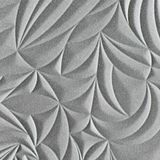 10' Wide x 4' Long Sculpted Petals Pattern Argent Silver Finish Thermoplastic Flexlam Wall Panel
