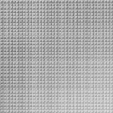 10' Wide x 4' Long Square 5 Pattern Brushed Aluminum Finish Thermoplastic Flexlam Wall Panel