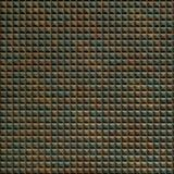10' Wide x 4' Long Chocolate Square Pattern Copper Fantasy Finish Thermoplastic Flexlam Wall Panel