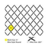 Round Single Crimp | Woven Wire Grill