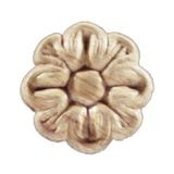 1-1/2in Dia | Unfinished Maple Embossed Wood Veneer | Small Applique
