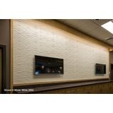 FlexLam 3D Wall Panel | 4ft W x 10ft H | Gobi Pattern | Linen Chocolate Finish