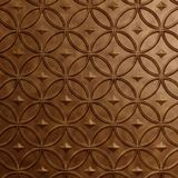 10' Wide x 4' Long Celestial Pattern Antique Bronze Finish Thermoplastic Flexlam Wall Panel