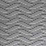 FlexLam 3D Wall Panel | 4ft W x 10ft H | Inferno Pattern | Brushed Aluminum Finish