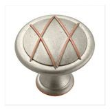 "1 3/8"" Diameter Knob Weathered Nickel Copper"