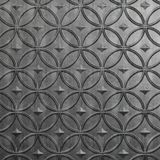 10' Wide x 4' Long Celestial Pattern Crosshatch Silver Finish Thermoplastic Flexlam Wall Panel