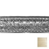 Tin Plated Stamped Steel Cornice | 10-1/2in H x 10-1/2in Proj | Antique Cream Finish | 4ft Long
