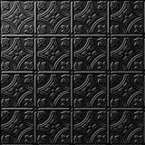 10' Wide x 4' Long Savannah Pattern Eccoflex Black Finish Thermoplastic Flexlam Wall Panel
