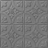 10' Wide x 4' Long Boston Pattern Diamond Brushed Finish Thermoplastic Flexlam Wall Panel