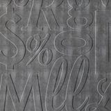 10' Wide x 4' Long Alphabet Soup Pattern Crosshatch Silver Finish Thermoplastic Flexlam Wall Panel