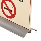 Countertop Sign Holder | Fits 1/16in to 1/8in Signs | White PVC | 12ft Length
