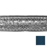 Tin Plated Stamped Steel Cornice | 10-1/2in H x 10-1/2in Proj | Midnight Blue Finish | 4ft Long
