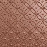 10' Wide x 4' Long Celestial Pattern Argent Copper Finish Thermoplastic Flexlam Wall Panel