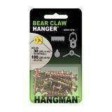 Hangman | #8 x 1in | Gold | Double Headed Bear Claw Hanger | 10 Pieces