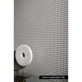 10' Wide x 4' Long Chocolate Square Pattern Winter White Finish Thermoplastic Flexlam Wall Panel