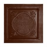 Tin Plated Stamped Steel Ceiling Tile | Lay In | 2ft Sq | Marsala Pewter Celiling Finish