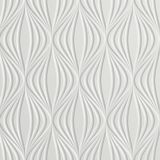 10' Wide x 4' Long Shallot Pattern Winter White Finish Thermoplastic Flexlam Wall Panel