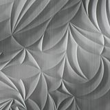 FlexLam 3D Wall Panel | 4ft W x 10ft H | Sculpted Petals Pattern | Brushed Stainless Finish