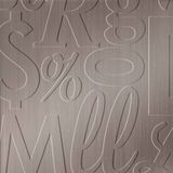 FlexLam 3D Wall Panel | 4ft W x 10ft H | Alphabet Soup Pattern | Brushed Nickel Finish