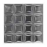 Tin Plated Stamped Steel Ceiling Tile | Lay In | 2ft Sq | Steel Finish