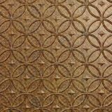 10' Wide x 4' Long Celestial Pattern Cracked Copper Finish Thermoplastic Flexlam Wall Panel