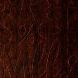 10' Wide x 4' Long Alphabet Soup Pattern African Cherry Finish Thermoplastic Flexlam Wall Panel