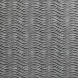 FlexLam 3D Wall Panel | 4ft W x 10ft H | Wavation Pattern | Crosshatch Silver Finish