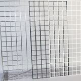 "White 2'x5' Wire Grid Panel W/3"" Oc Squares"