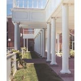 "10' High x 12"" Diameter White Classic Aluminum Round Fluted Structural Column"