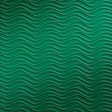 10' Wide x 4' Long Wavation Pattern Mirror Green Finish Thermoplastic Flexlam Wall Panel